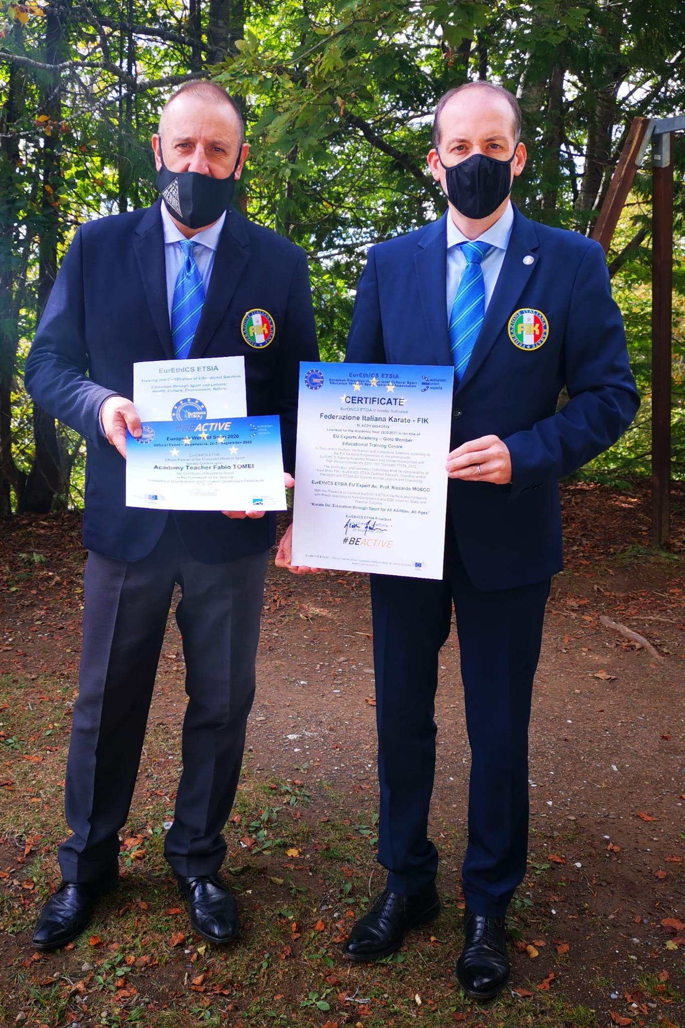 Certificazione Europea di Accademia Europea alla FIK